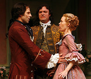 Christopher Innvar, Ian Bedford, and Veanne Coxin The Beaux' Stratagem(© Carol Rosegg)