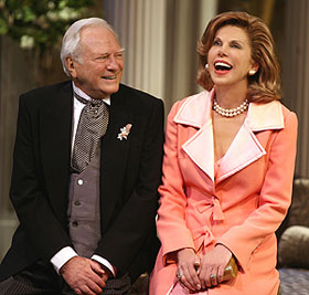George Grizzard and Christine Baranski in Regrets Only