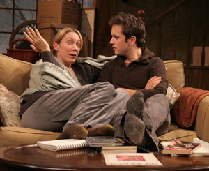 Elizabeth Marvel and Justin Chatwin in Dark Matters