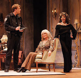 Ethan Matthews, Linda Evans, and Joan Collinsin Legends!