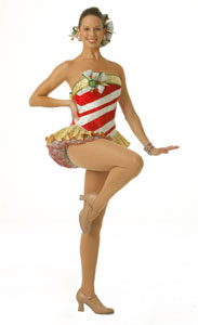 One of the Rockettes in