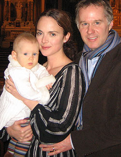 Mr. and Mrs. Patrick McEnroewith their daughter, Victoria Penny