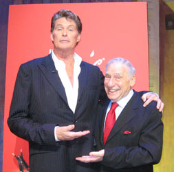 David Hasselhoff and Mel Brooks