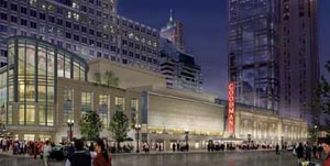 Artist's rendering of the new Goodman Theatre complex