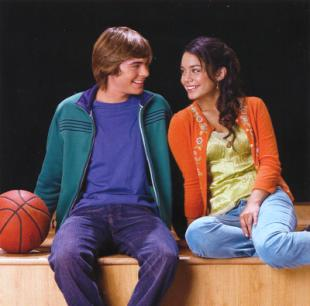 Zac Efron and Vanessa Anne Hudgens in Disney's High School Musical