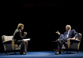 Michael Sheen and Frank Langella in Frost/Nixon
